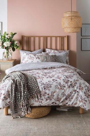 FatFace Floral Bird Cotton Duvet Cover and Pillowcase Set