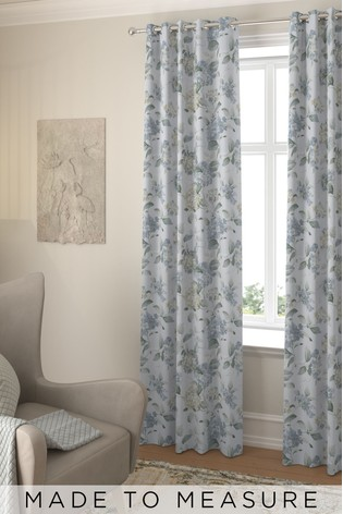 Judson Forget Me Not Blue Made To Measure Curtains