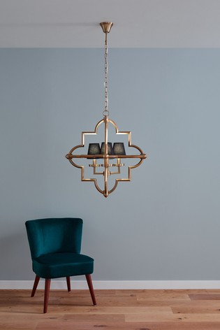 Zanetta Antique Brass Metal Four Shade Pendant by Pacific
