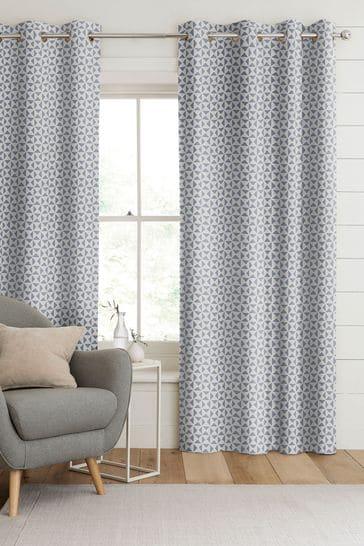 Indigo Blue Monde Made To Measure Curtains