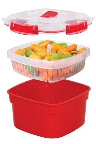 Sistema Microwave Food Steamer And Food Carrier