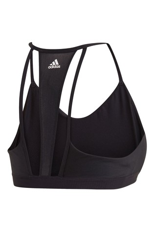 adidas Black 3 Stripe Mesh Bra