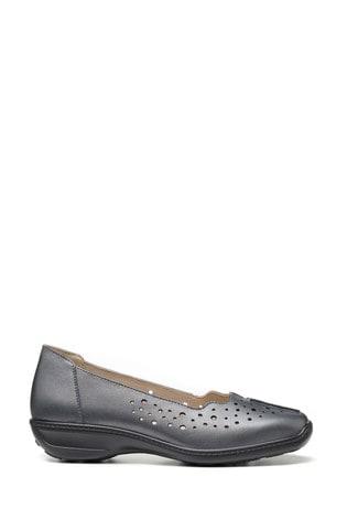 Hotter Metallic Zoe Slip-On Pump Shoes