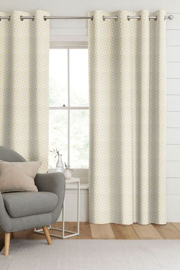 Monde Zest Gold Made To Measure Curtains