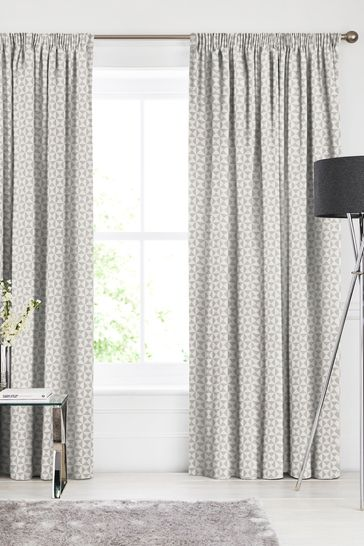 Graphite Natural Monde Made To Measure Curtains