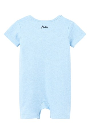 Joules Blue Patch Organically Grown Cotton Appliqué Babygrow