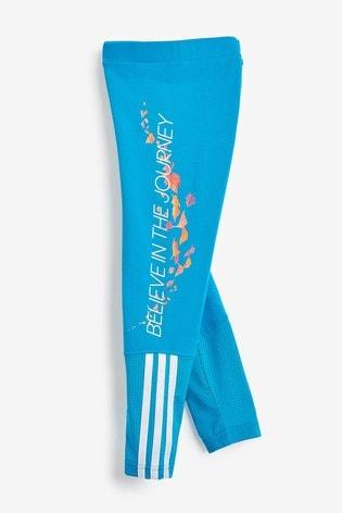 adidas Little Kids Blue Disney™ Frozen Leggings