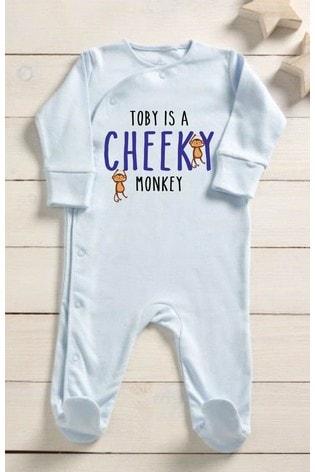 Personalised Cheeky Monkey Sleepsuit