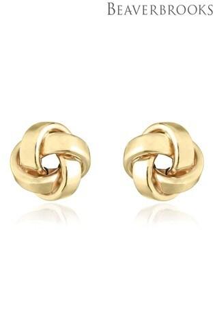Beaverbrooks 9ct Gold Knot Stud Earrings