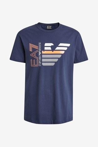 Emporio Armani EA7 Navy Eagle T-Shirt