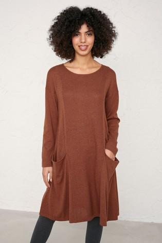 Seasalt Cornwall Brown Nutmeg Heartfelt Dress