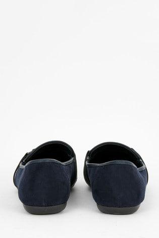 Evans Blue Extra Wide Fit Tassel Comfort Loafers