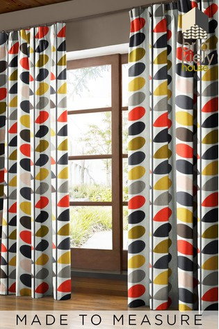 Multi Stem Tomato Red Made To Measure Curtains by Orla Kiely