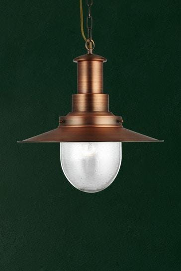 Searchlight Copper Dover 1 Light Large Fisherman Style Pendant