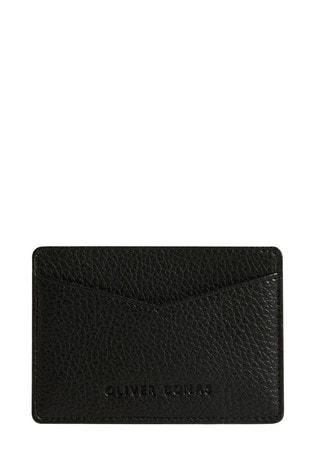 Oliver Bonas Black Fleur Card Holder