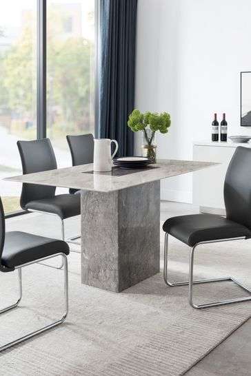 Rimini Dining Table with 4 Chairs by Alfrank