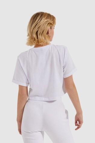Ellesse™ White Alberta Crop T-Shirt