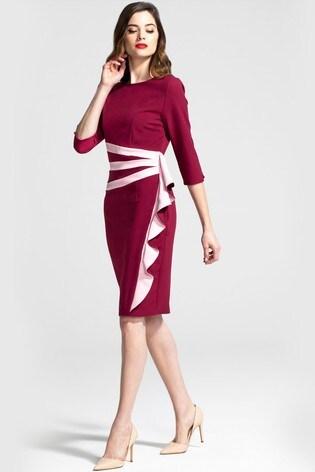 HotSquash Contrast Side Frill Dress