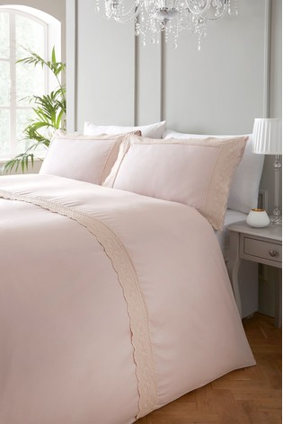 Serene Exclusive To Next Renaissance Embroidered Edge Duvet Cover and Pillowcase Set