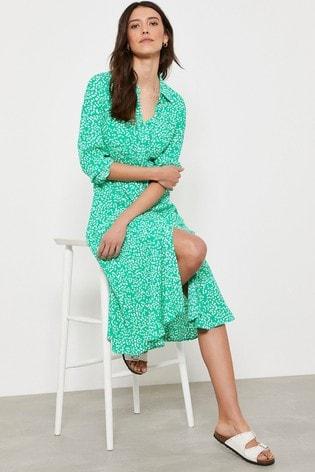Mint Velvet Verity Spot Midi Shirt Dress