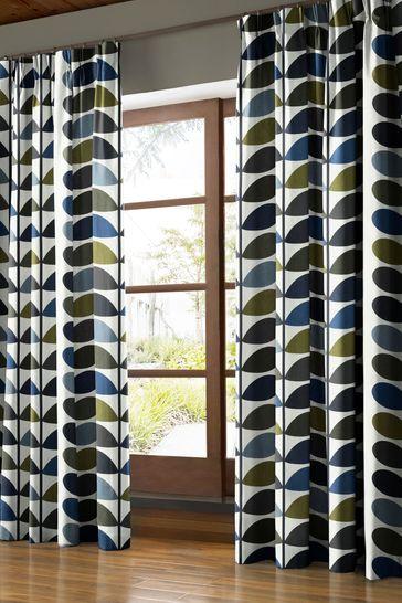 Orla Kiely Green Multi Stem Made To Measure Curtains