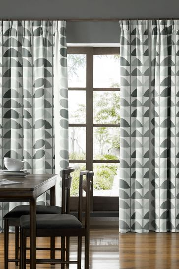 Multi Stem Warm Grey Made To Measure Curtains by Orla Kiely
