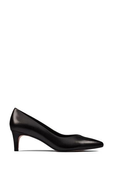 Clarks Black Leather Laina55 Court2 Shoes
