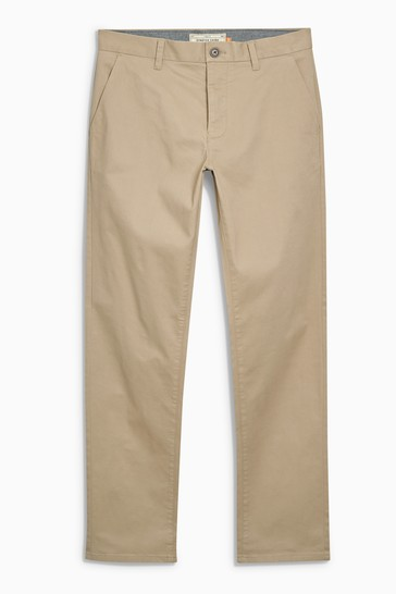 Wheat Straight Fit Stretch Chinos