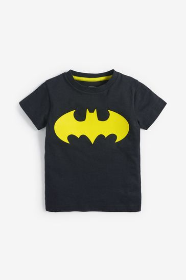 Black Batman® Short Sleeve T-Shirt (3mths-8yrs)