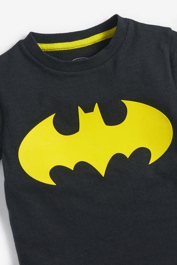 Black Batman Superhero License T-Shirt (3mths-8yrs)
