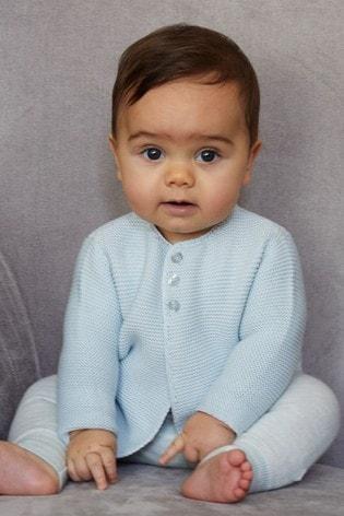 The Little Tailor Blue Cotton Cardigan