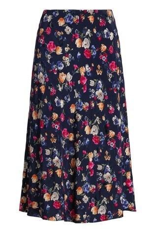 Lauren Ralph Lauren® Navy Floral Sharae Midii Skirt