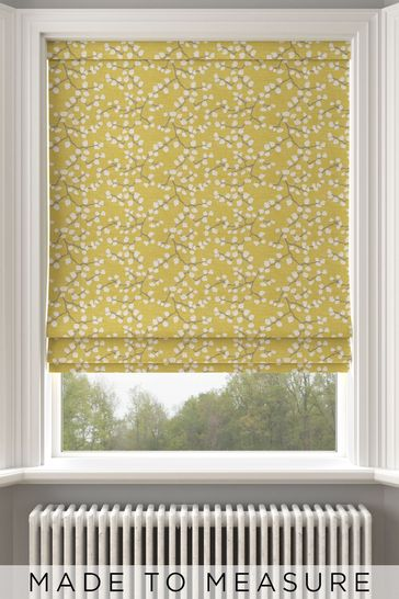 Gilley Apple Yellow Made To Measure Roman Blind