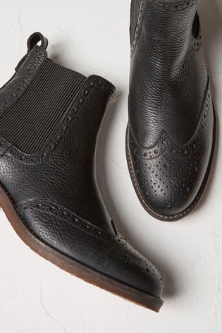 FatFace Black Bude Chelsea Boots
