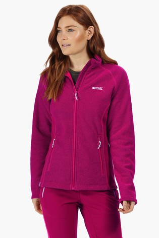 Regatta Pink Womens Tafton Full Zip Fleece