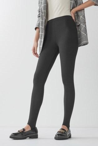 Black Stirrup Full Length Leggings