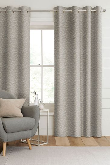 Pewter Grey Pionna Made To Measure Curtains