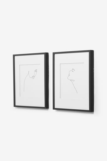 Set of 2 Artist Collection Faces by Louise Nisbet Framed Prints