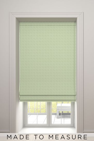 Maud Apple Green Made To Measure Roman Blind