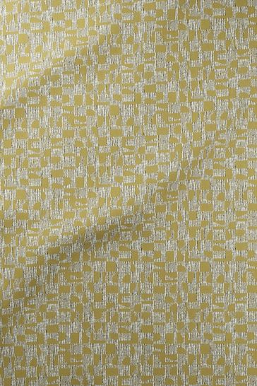 Ochre Gold Geo Texture Made To Measure Roman Blind