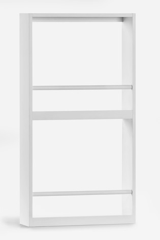 White Wall Mounted Bookcase