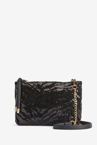 Oasis Velvet Zebra Stripe Bag