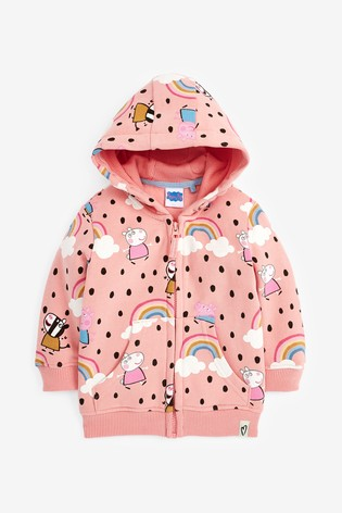 Pink Peppa Pig™ Licence Zip Through Hoody (6mths-7yrs)