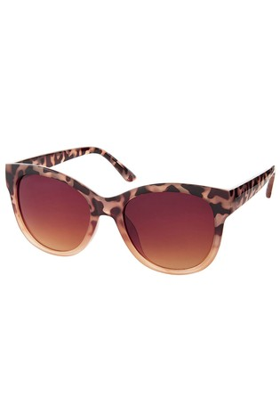 Accessorize Brown Waverly Half Tort Wayfarer Sunglasses