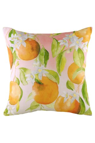Hand Painted Oranges Cushion by Evans Lichfield