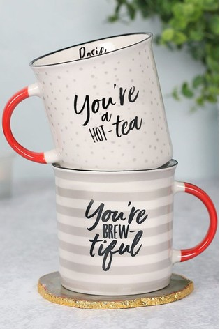 Personalised Tea Themed Mug Set by Signature PG