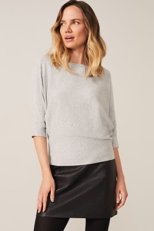 Phase Eight Grey Cristine Batwing Knit Top