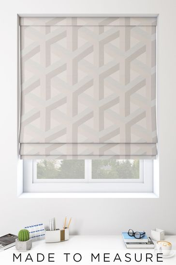 Optical Geo Pink Made To Measure Roman Blind