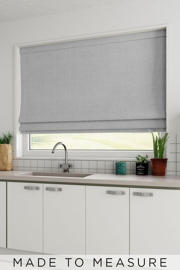 Grey Chenille Made To Measure Roman Blind