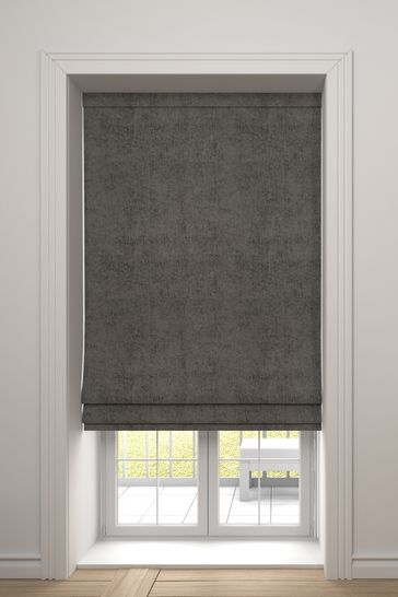 Chenille French Grey Made To Measure Roman Blind